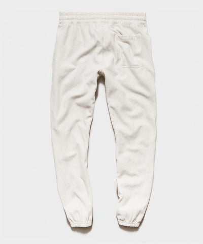 Garment Dyed Classic Sweatpant in Alabaster