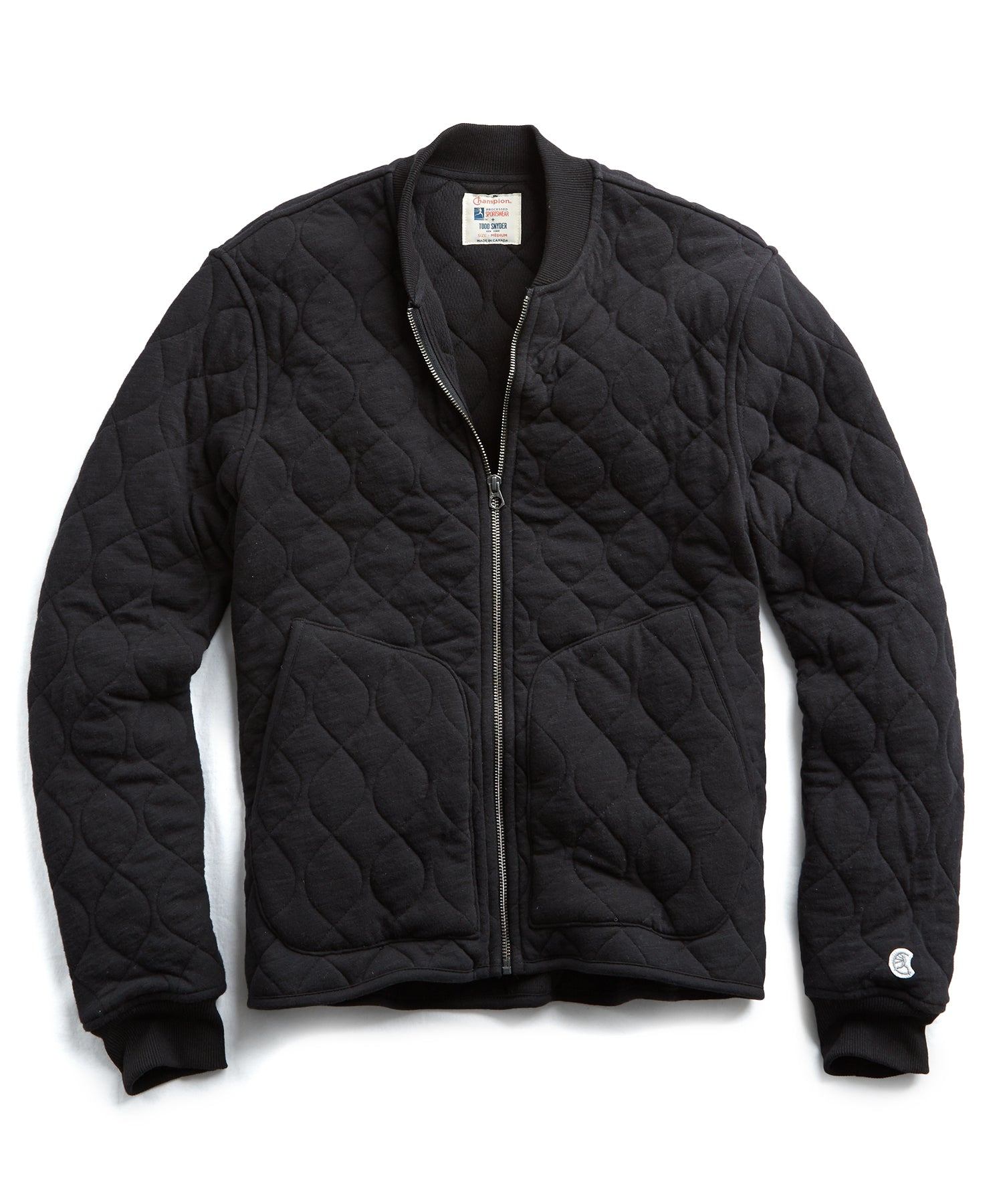 Champion Quilted Bomber in Black