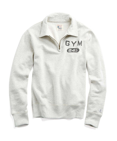 Fleece Graphic Half-Zip in Grey
