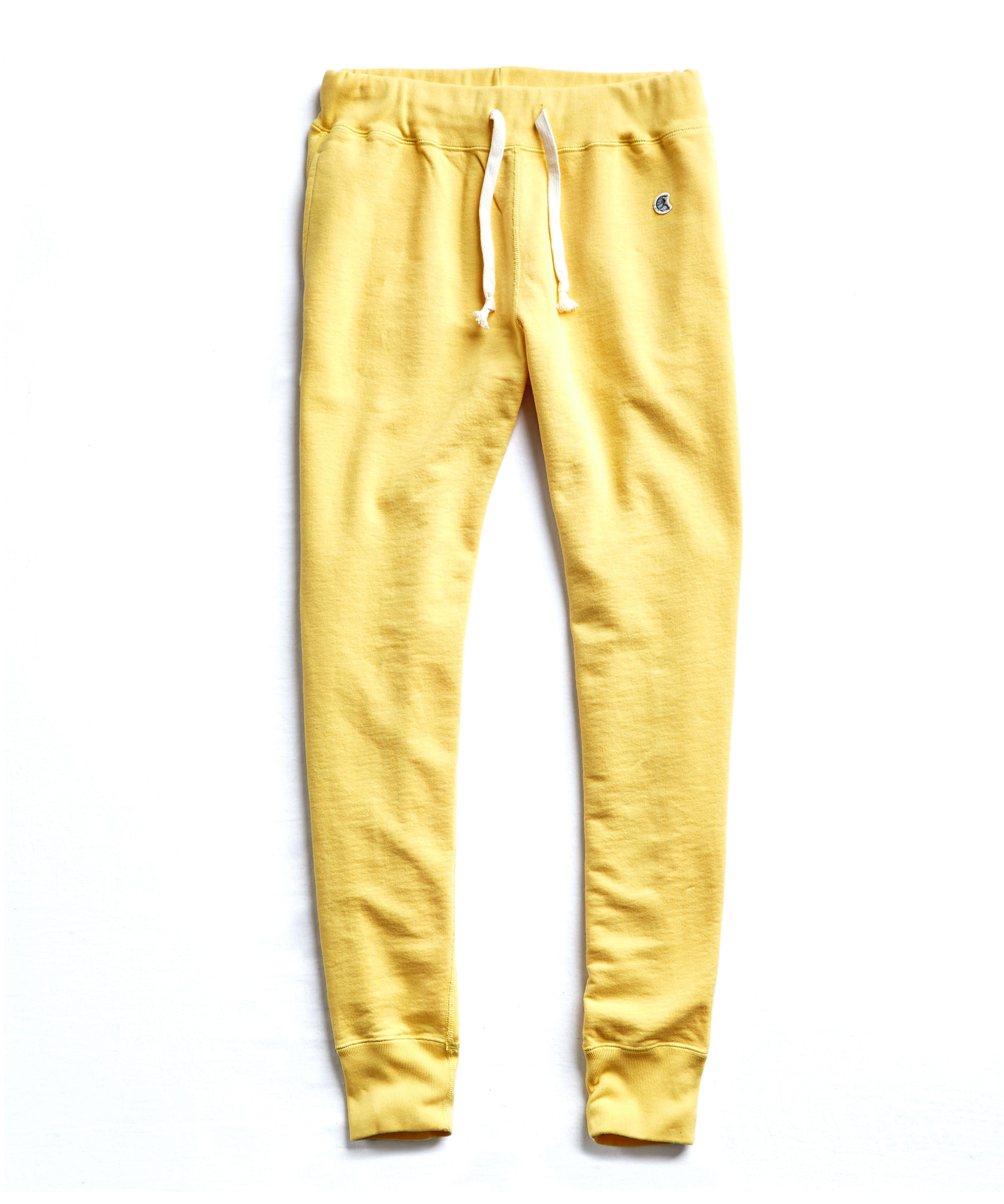 Terry Slim Jogger Sweatpant in Yellow