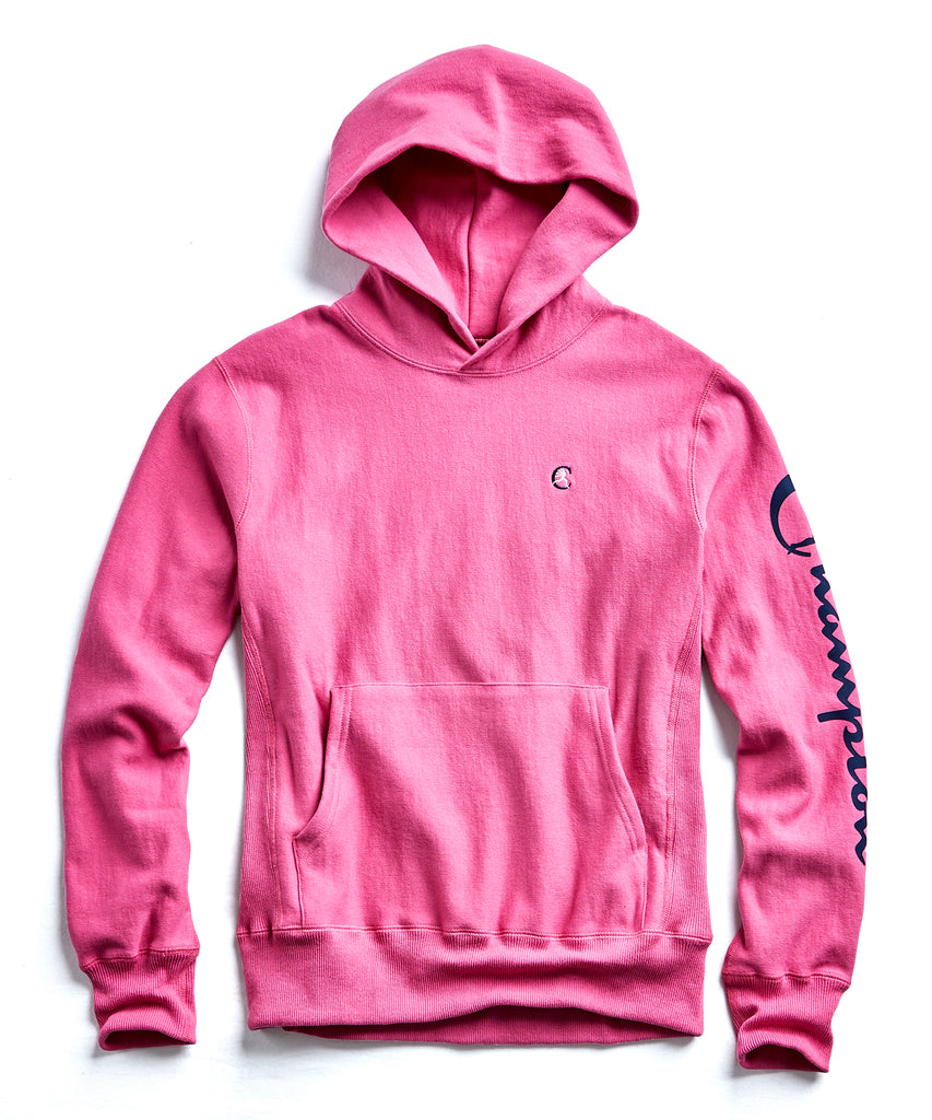 Champion Graphic Hoodie in Magenta