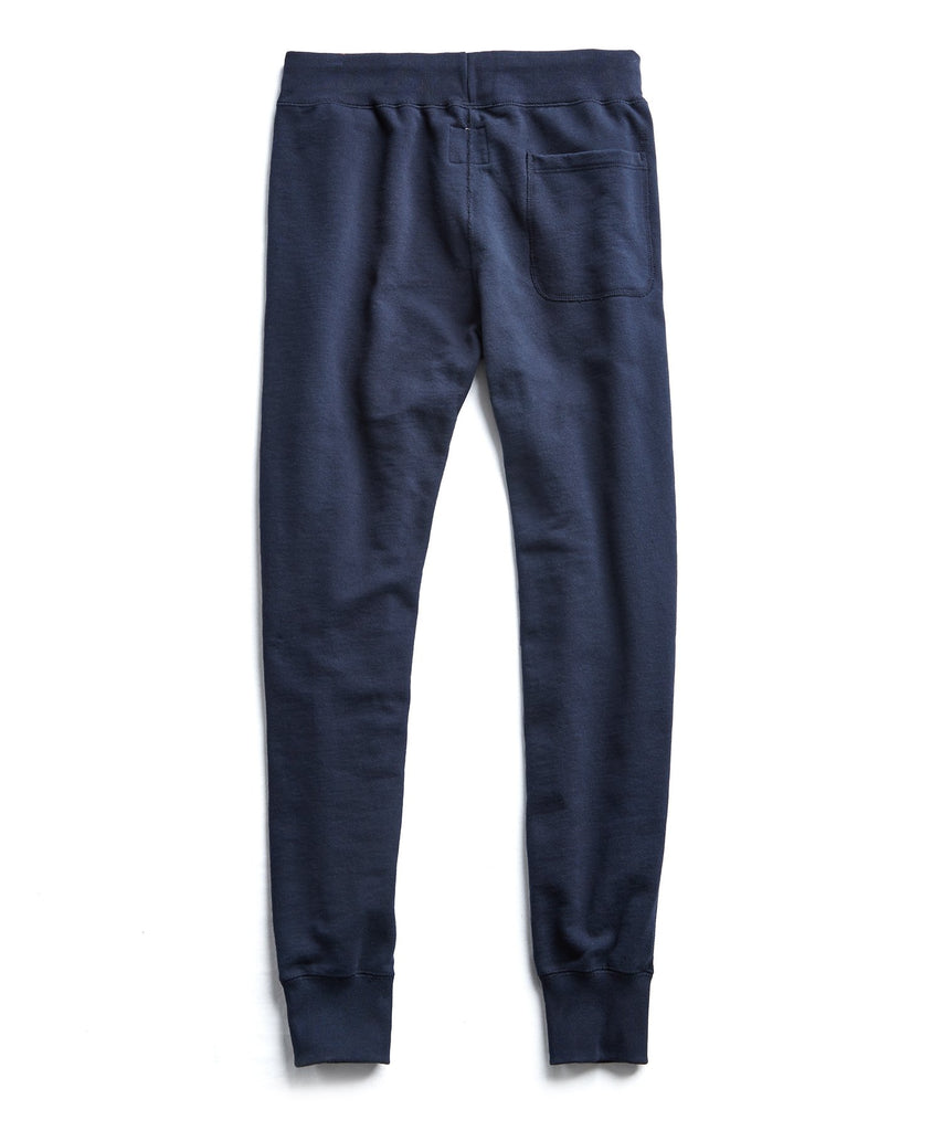 Fleece Slim Jogger Sweatpant in Navy