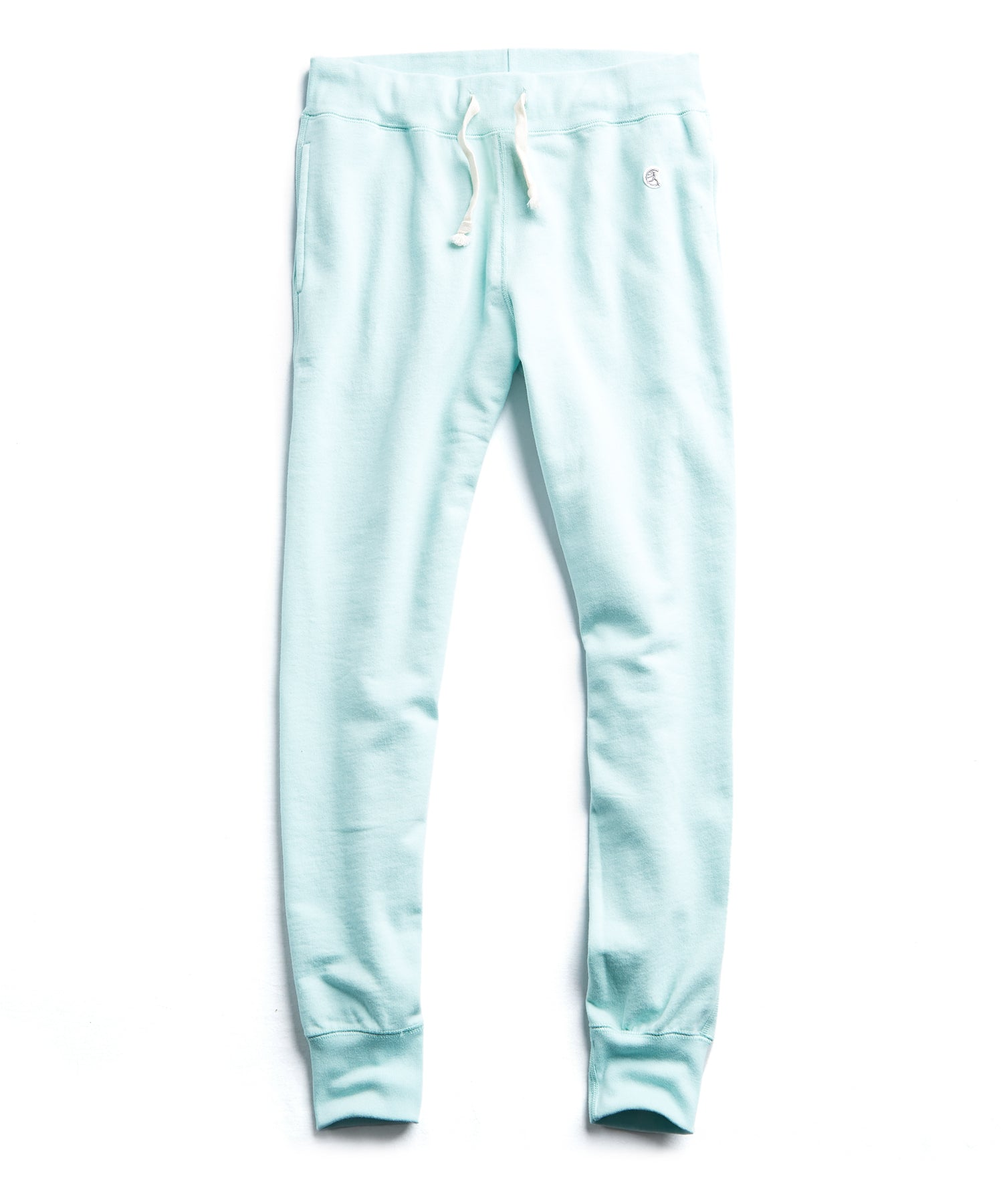 Terry Slim Jogger Sweatpant in Surf Green