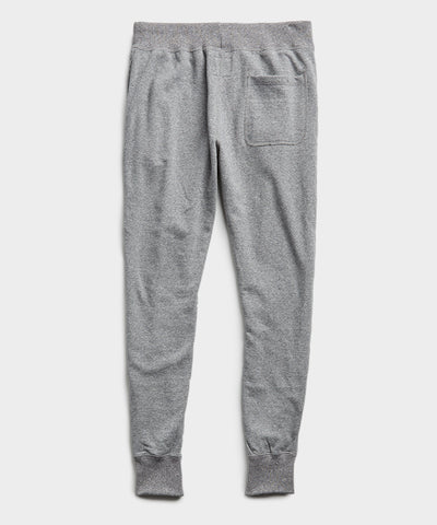 Terry Slim Jogger Sweatpant in Salt and Pepper