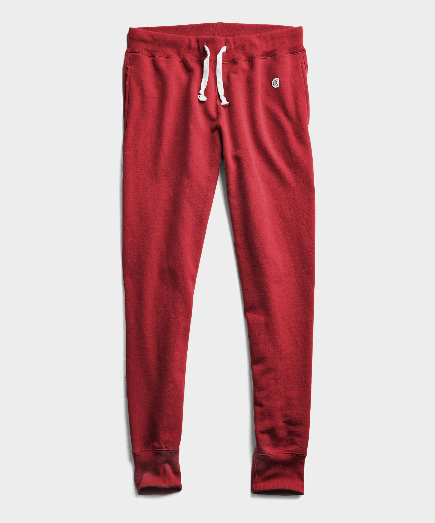 Midweight Slim Jogger Sweatpant in Garnet Red