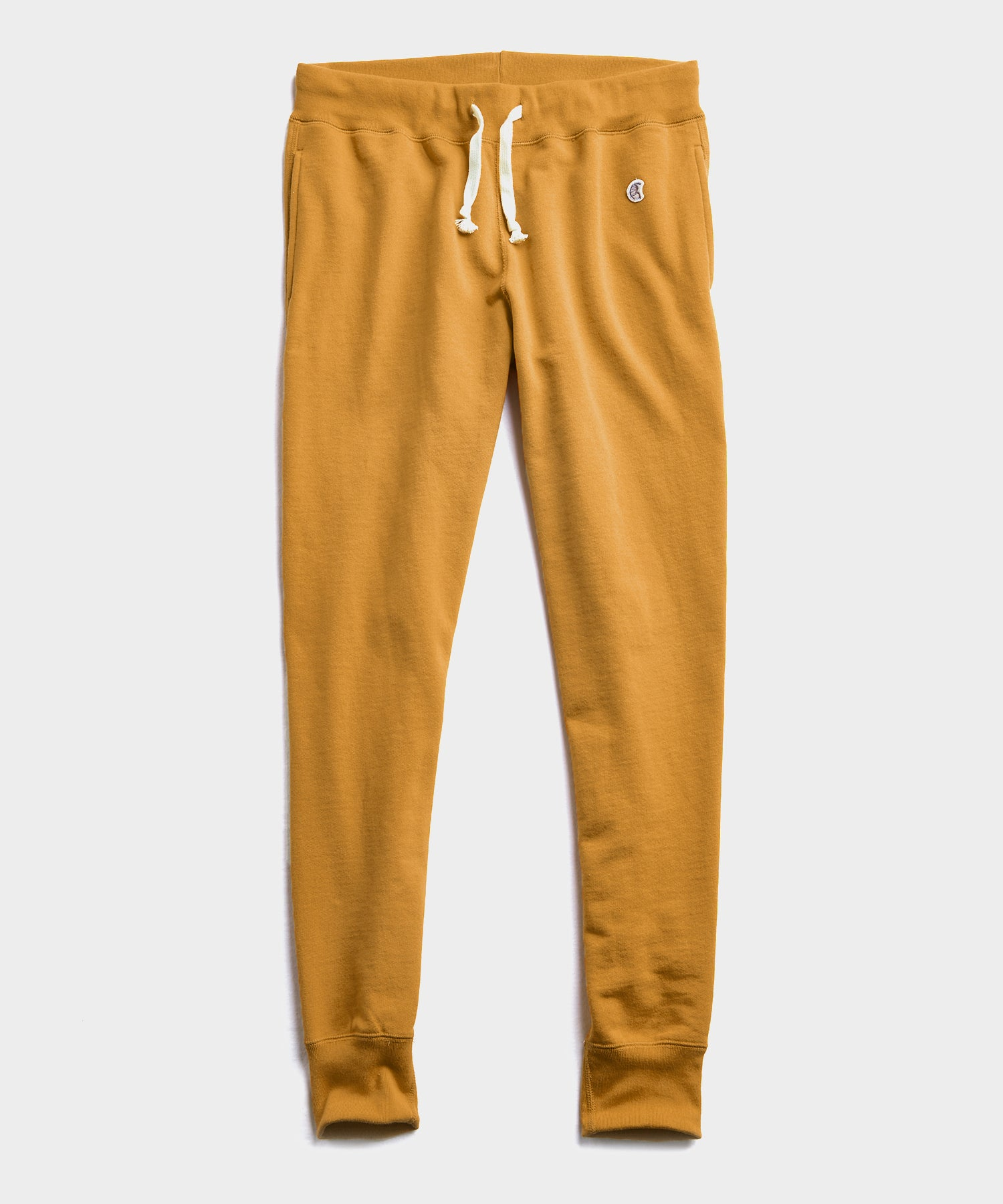 Midweight Slim Jogger Sweatpant in Mustard
