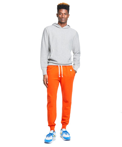 Terry Slim Jogger Sweatpants in Sunset Orange