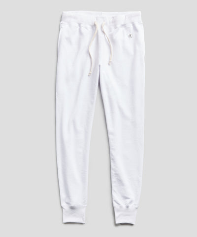 Lightweight Slim Jogger Sweatpant in White