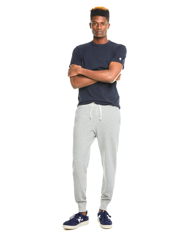 Terry Slim Jogger Sweatpant in Light Grey Mix
