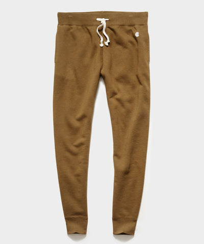 Midweight Slim Jogger Sweatpant in Mossy Brown