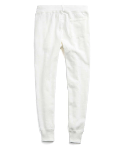 Heavyweight Slim Jogger Sweatpant in Vintage White