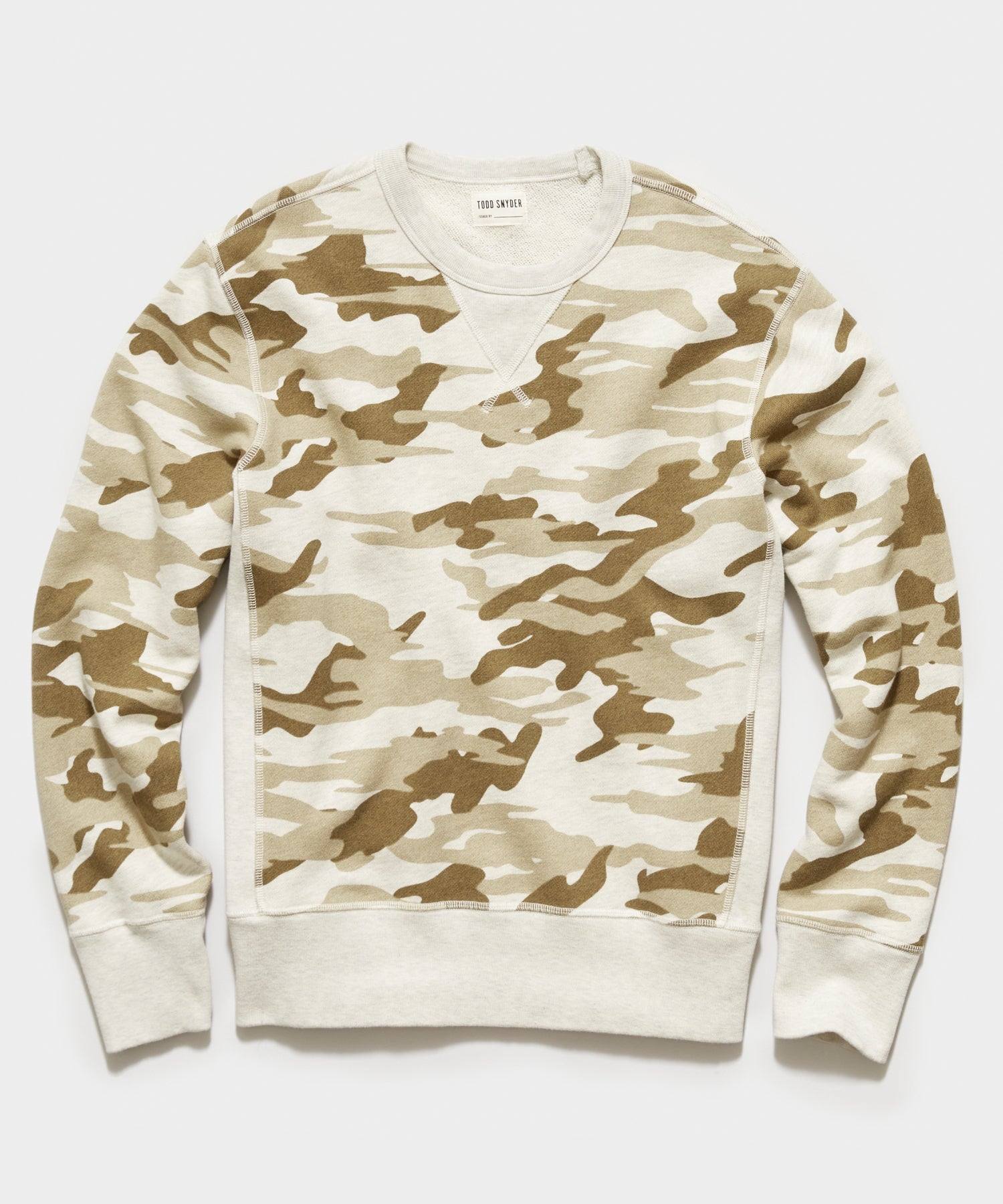 Camo Crewneck Sweatshirt in Sand
