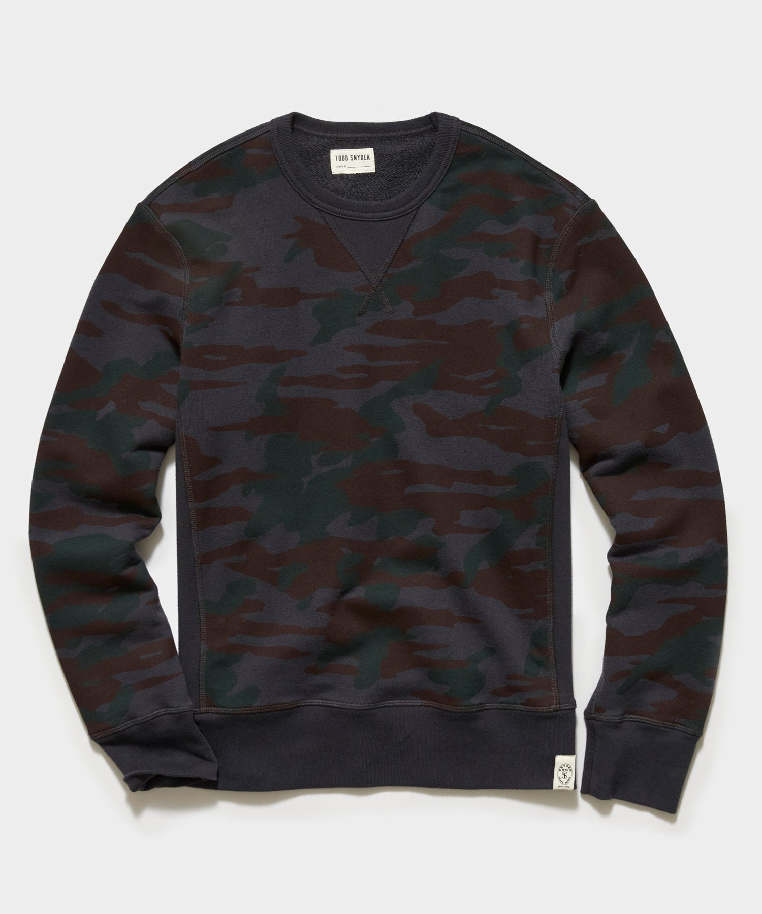 Camo Crewneck Sweatshirt in Dark Coal