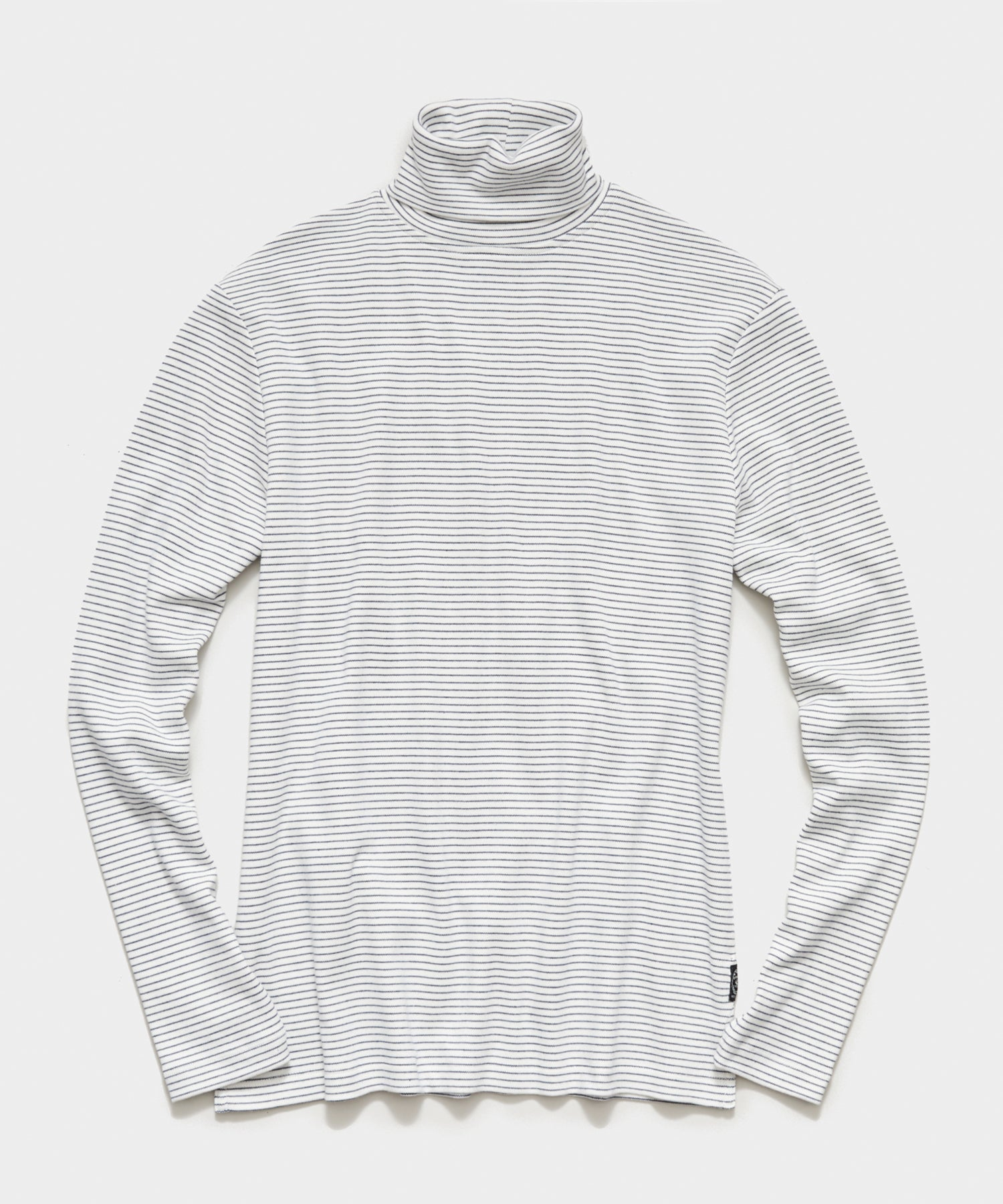 Jersey Stripe Turtleneck in White