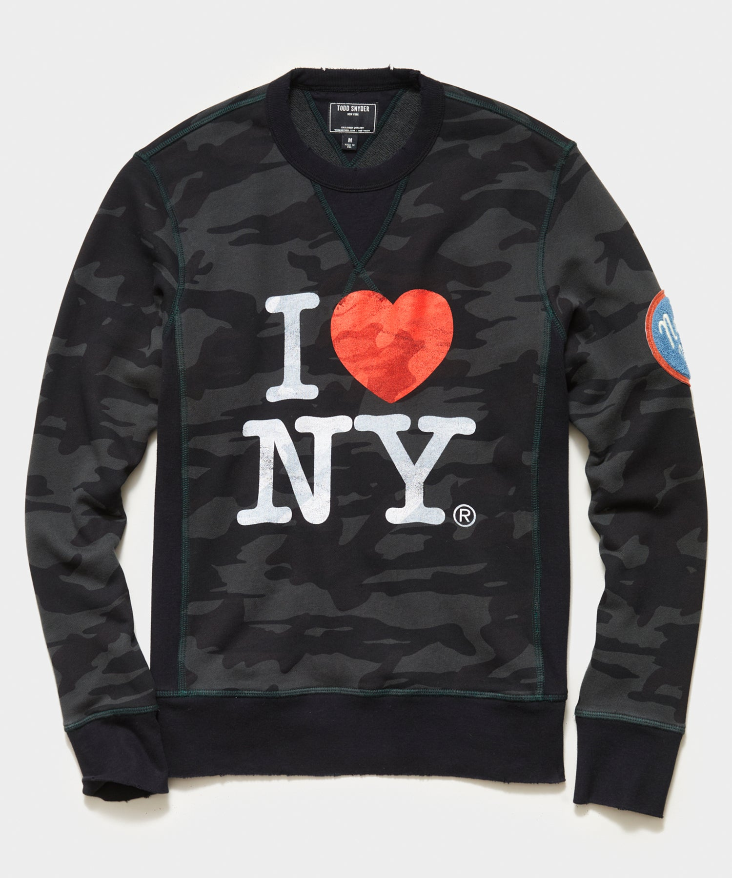 I Love NY Black Camo Crewneck Sweatshirt