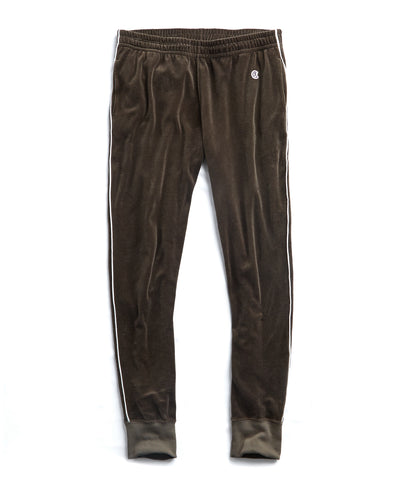 Piped Velour Track Pant...