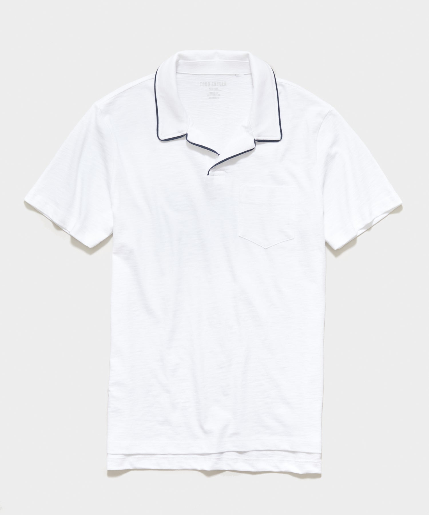 Made in L.A. Tipped Montauk Polo in White