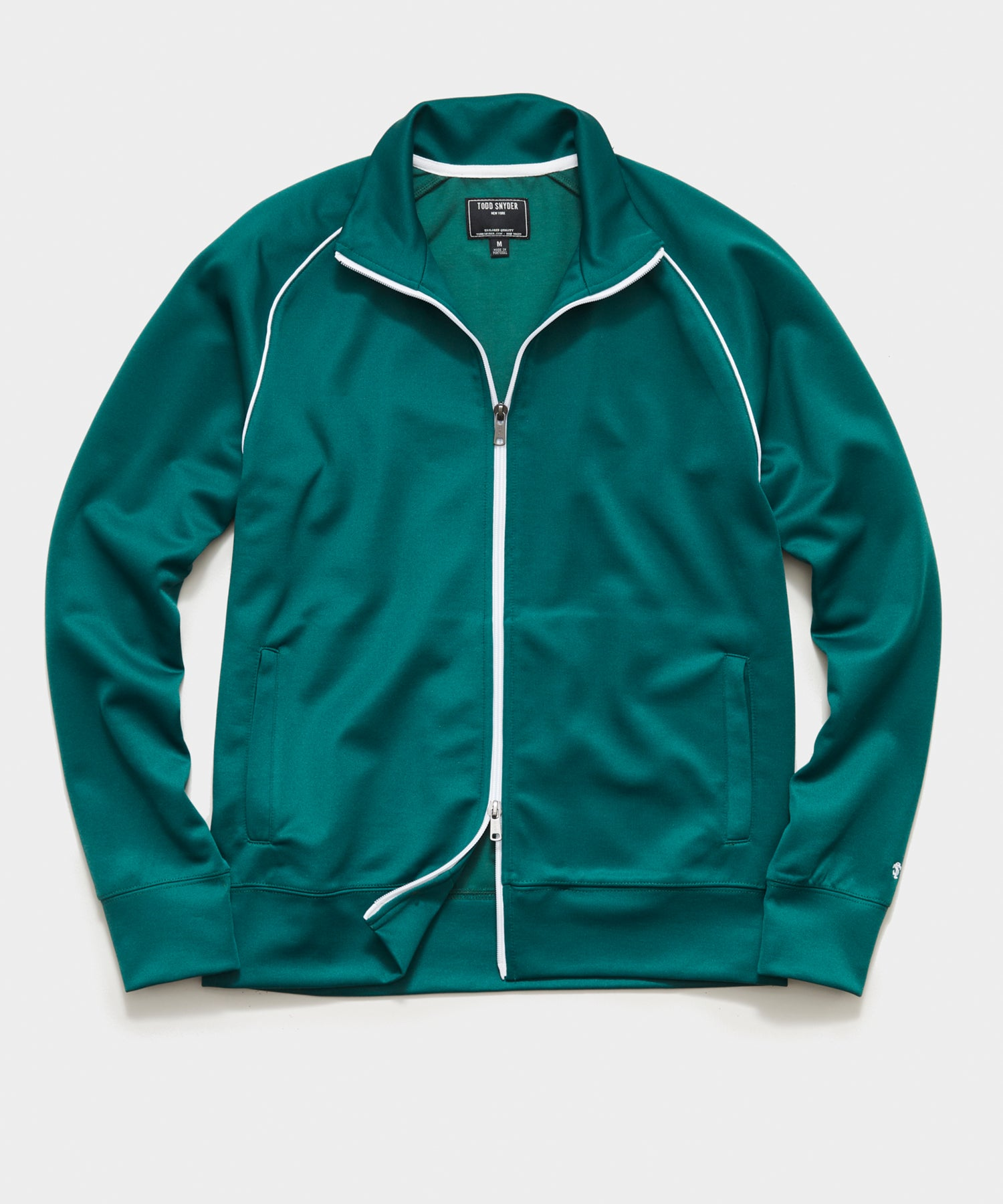 Knit Track Jacket in Green