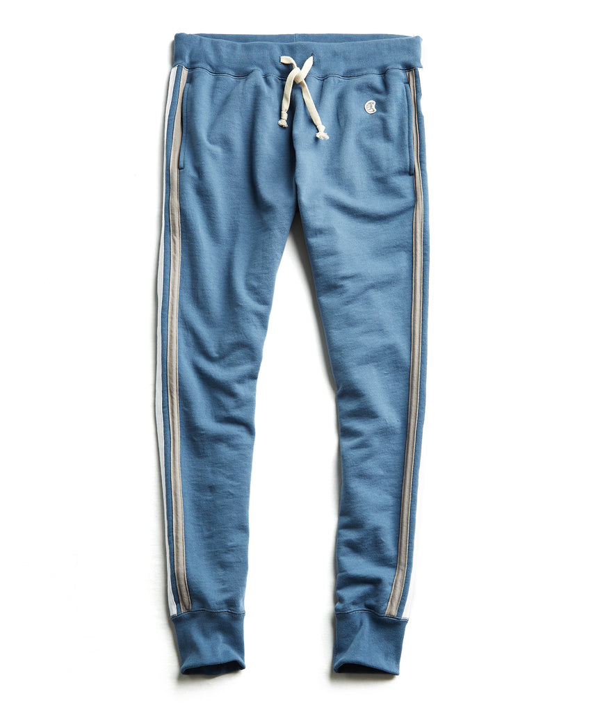 Stripe Sweatpant in Blue
