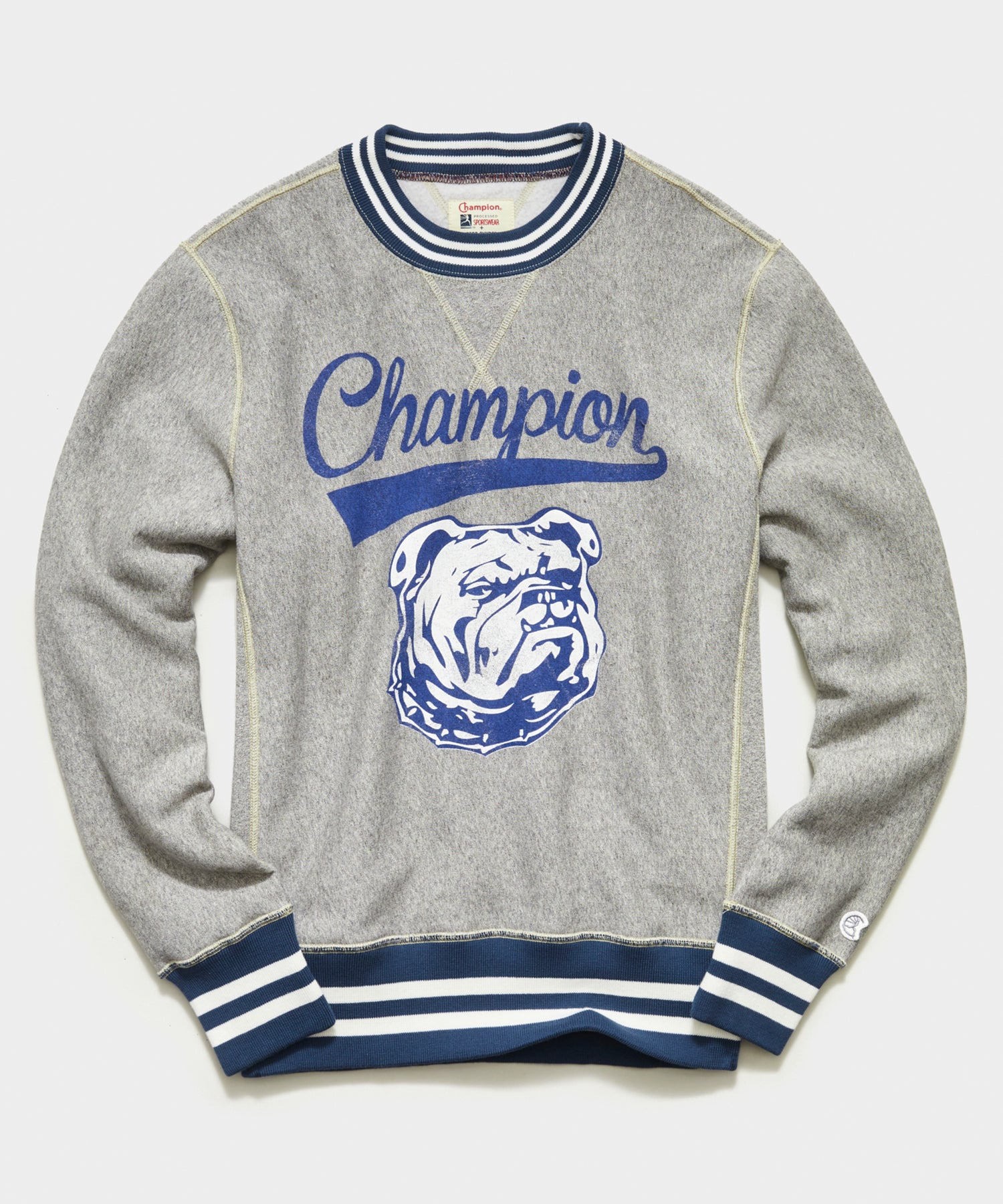 Champion Bulldog Sweatshirt in Light Grey Mix