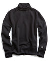 Fleece Turtleneck Sweatshirt in Black