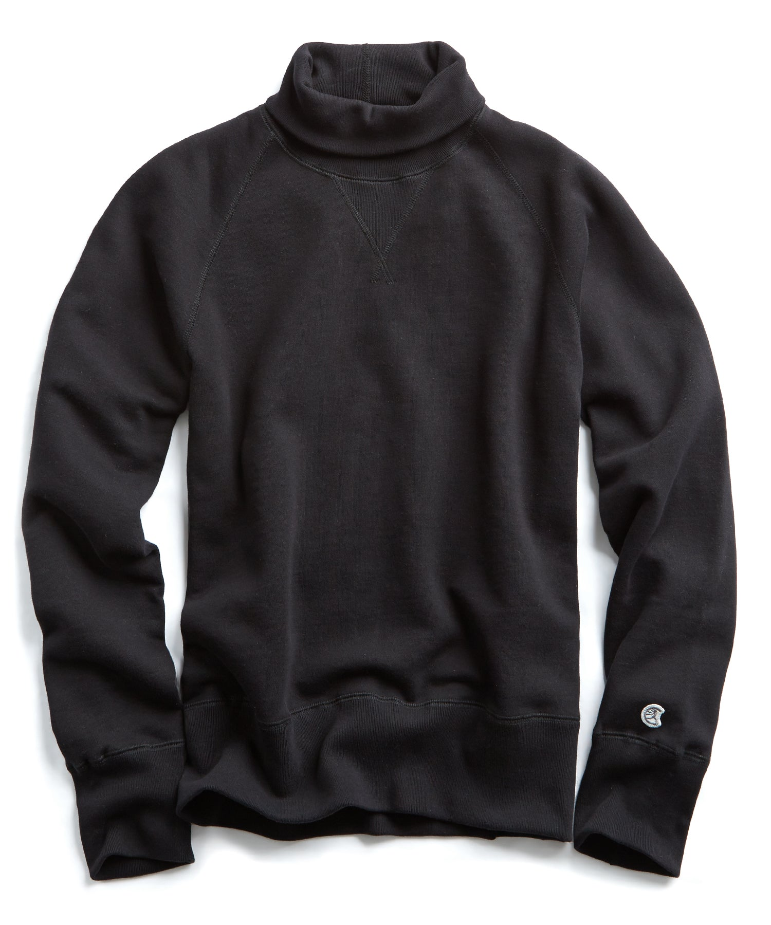 Heavyweight Turtleneck Sweatshirt in Black