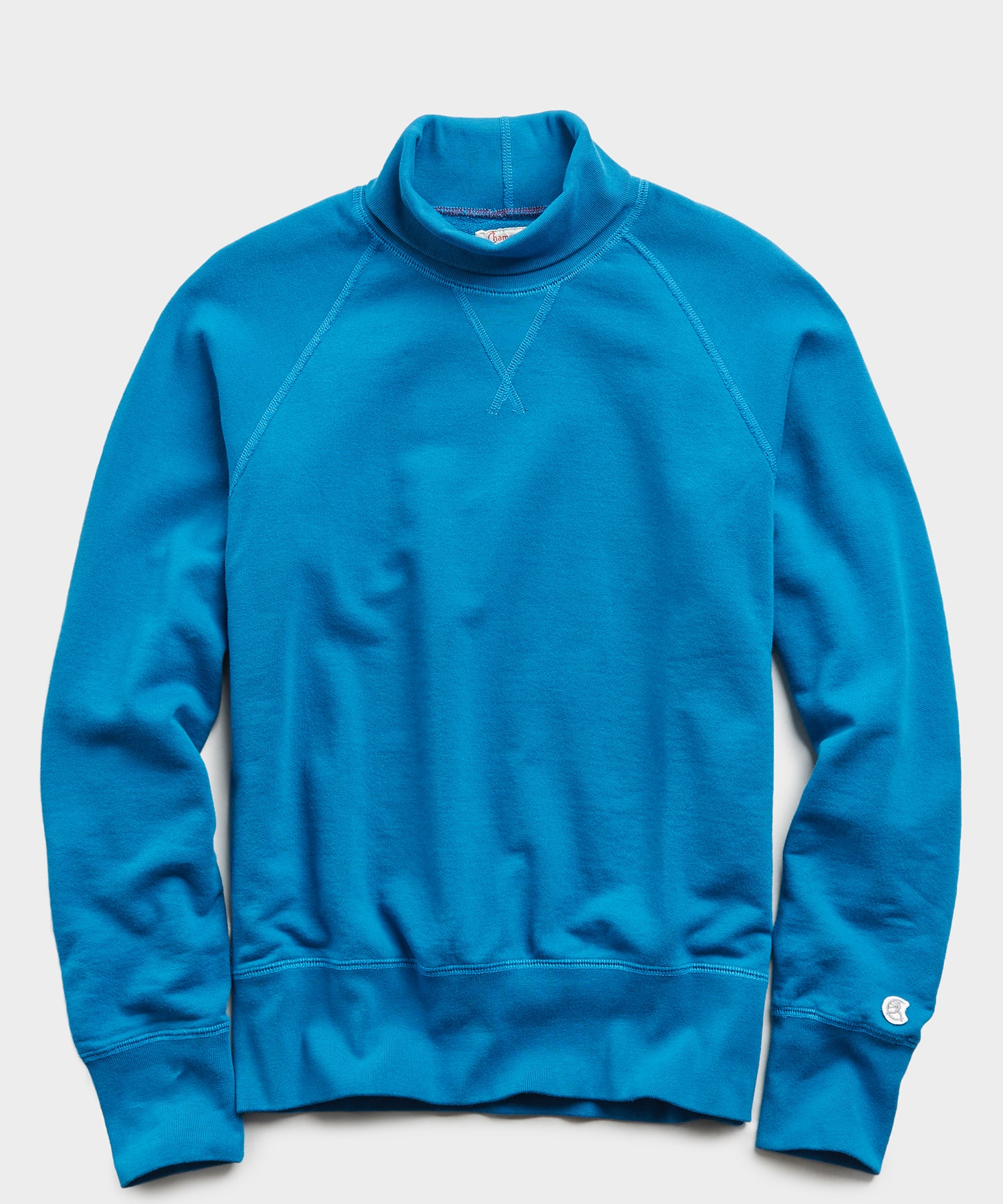 Lightweight Turtleneck Sweatshirt in Slate Teal
