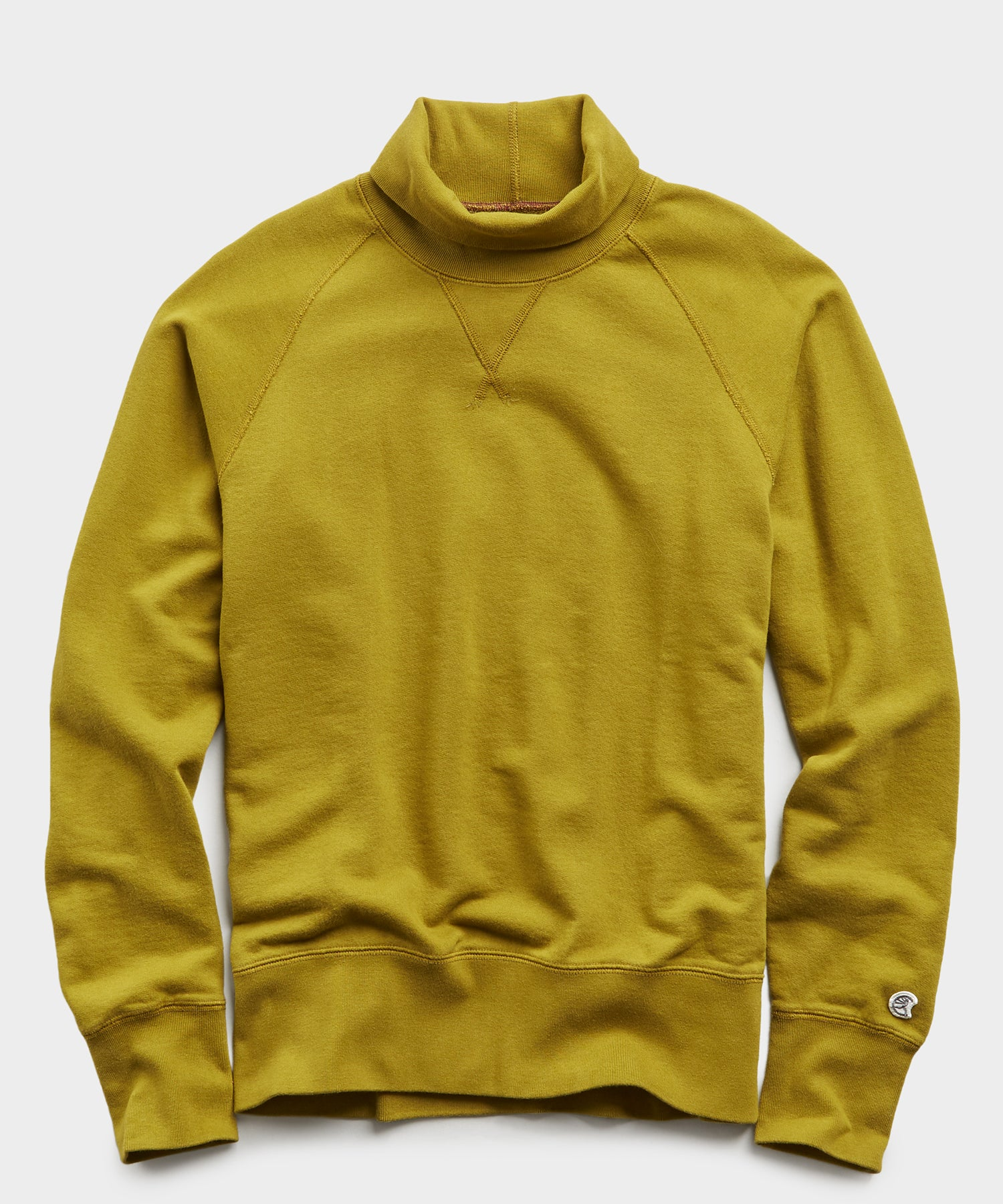 Lightweight Turtleneck Sweatshirt in Lime Leaf