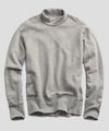 Heavyweight Turtleneck Sweatshirt in Light Grey Mix