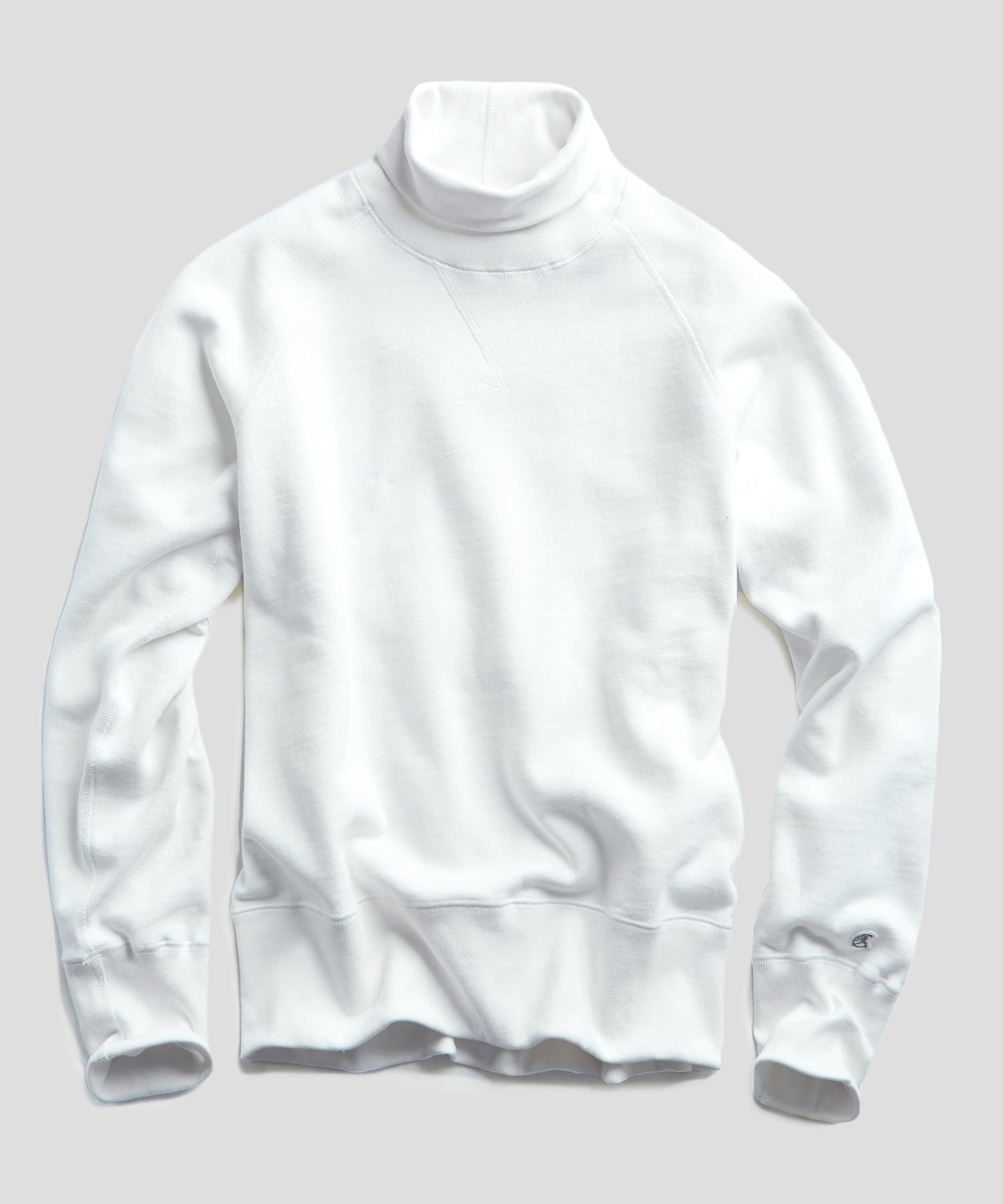 Heavyweight Turtleneck Sweatshirt in White