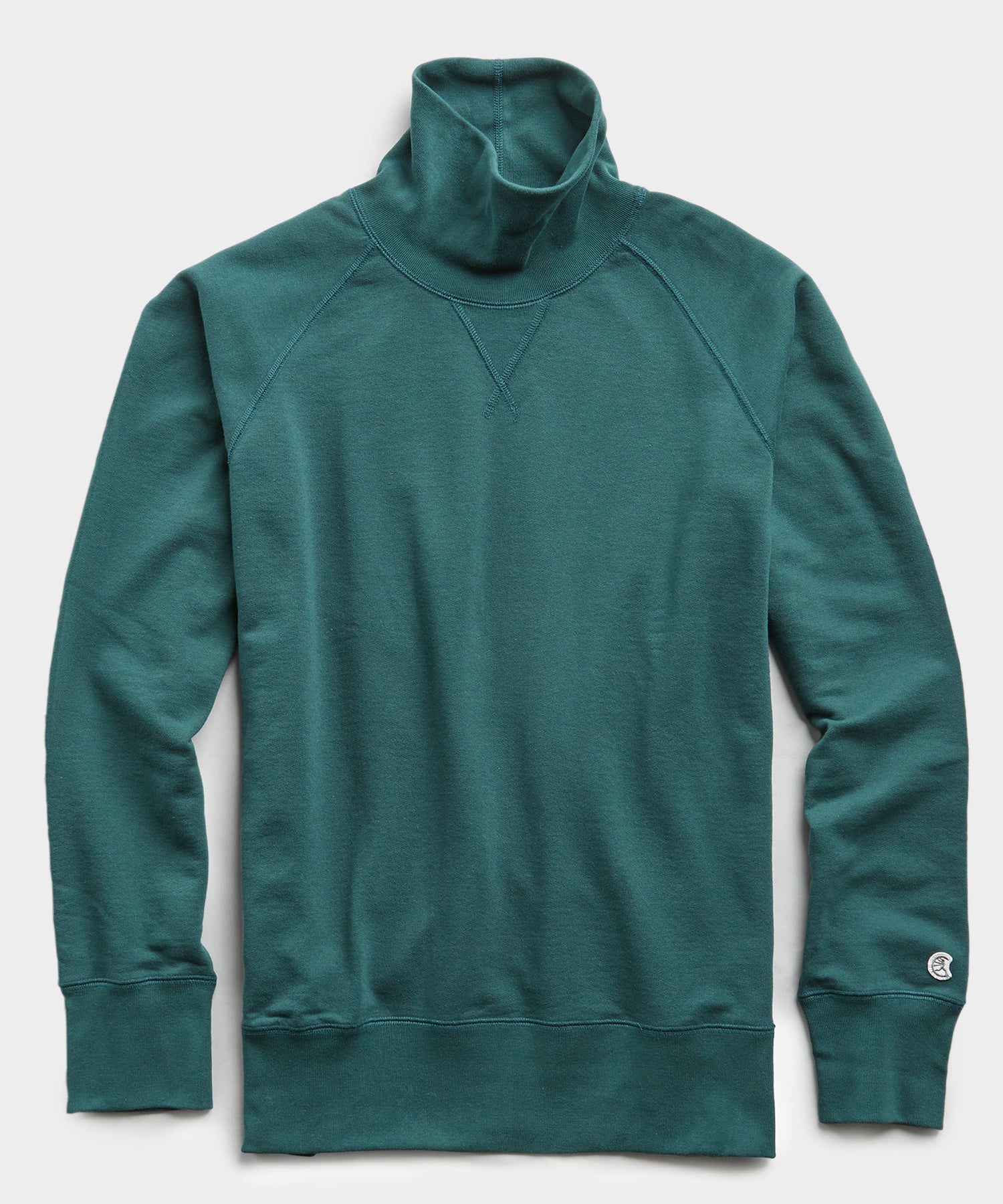 Terry Turtleneck Sweatshirt in Storm Green
