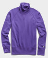 Terry Turtleneck Sweatshirt in Royal Purple