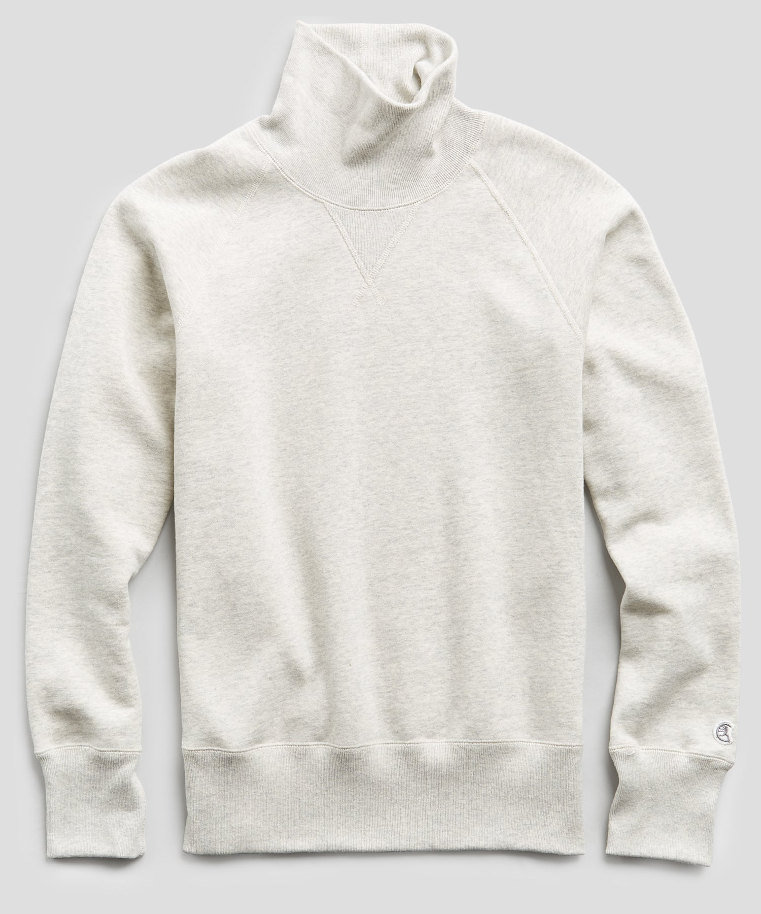 Heavyweight Turtleneck Sweatshirt in Eggshell Mix