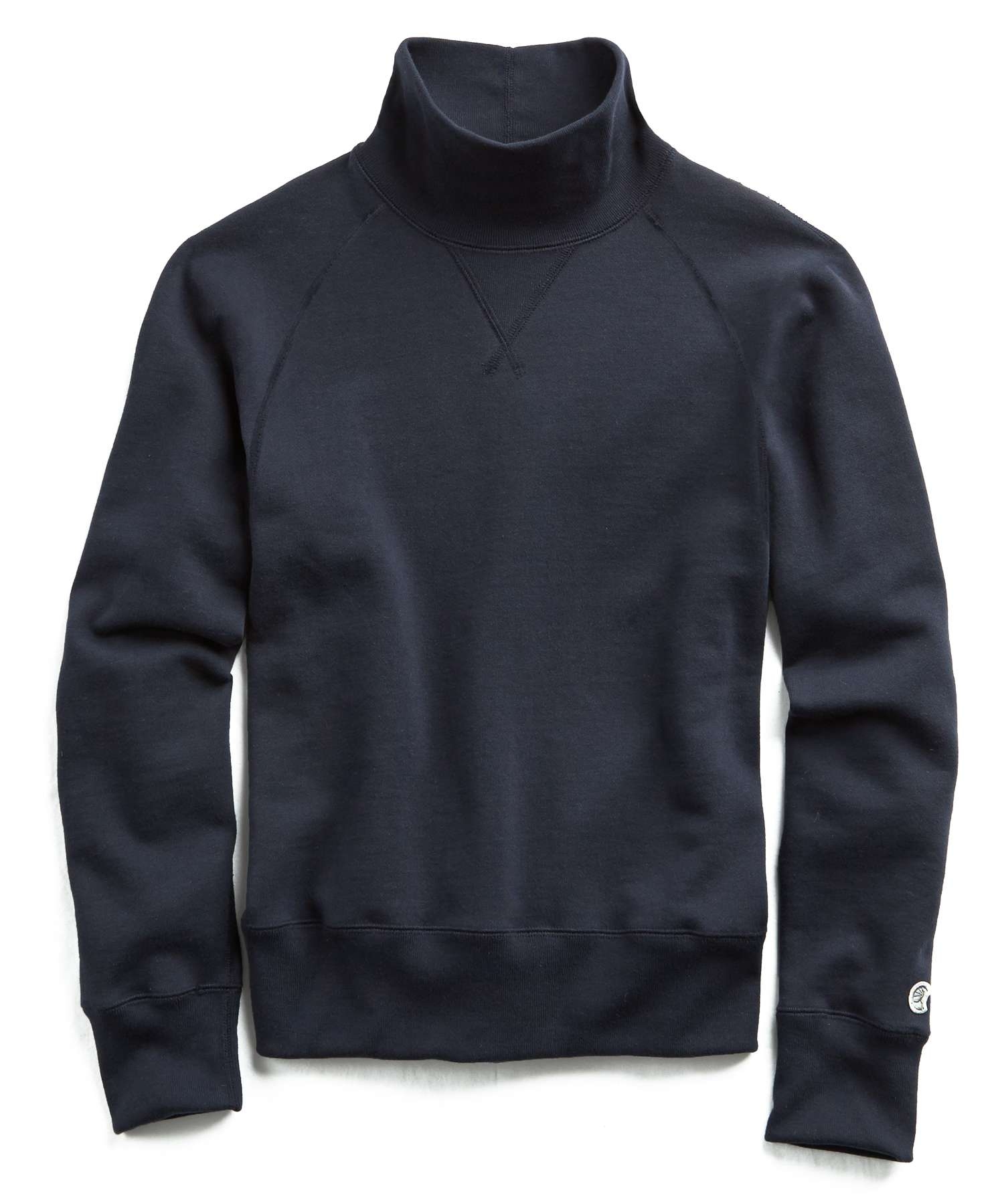 Fleece Turtleneck Sweatshirt in Navy