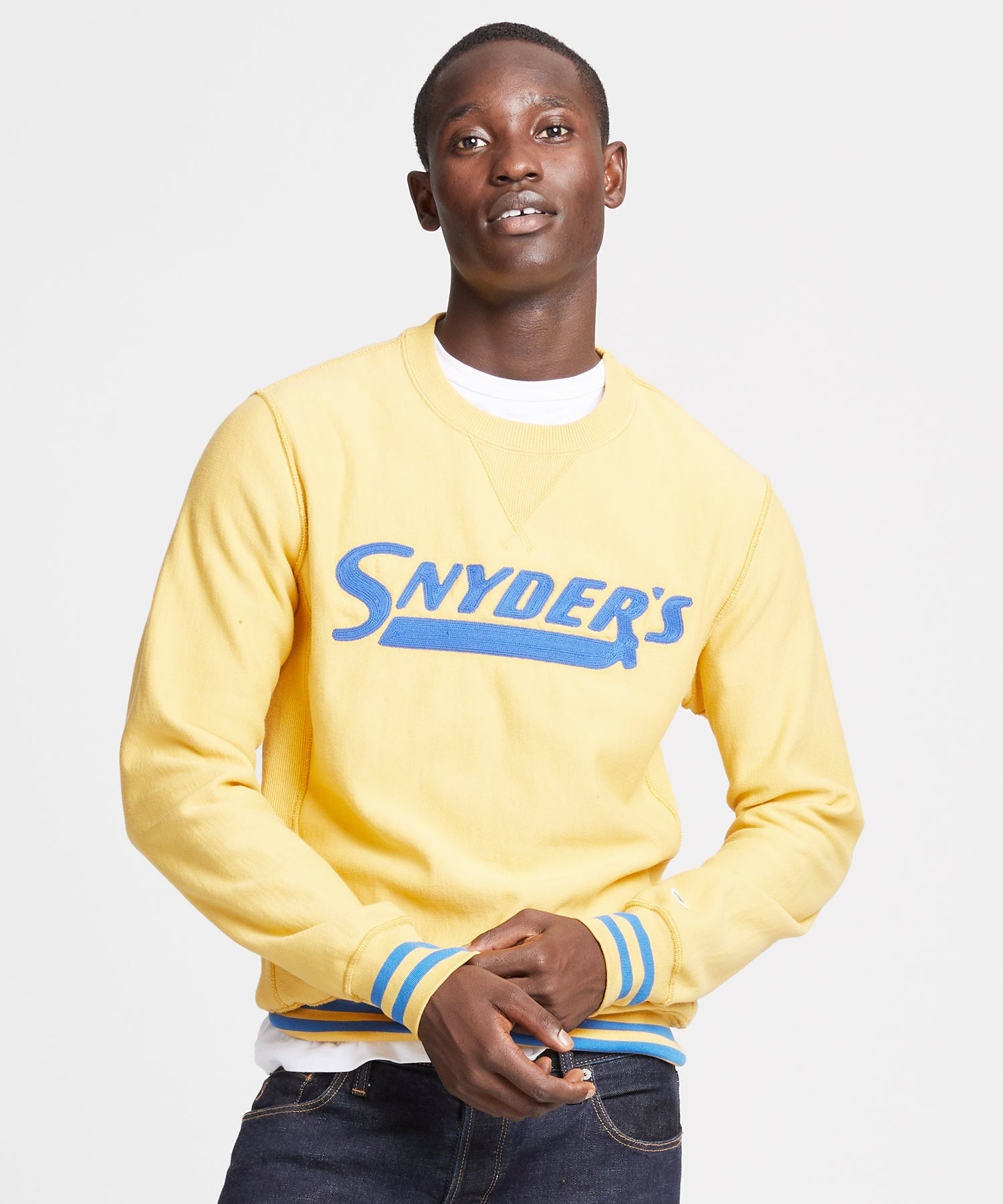 Snyder's Graphic Sweatshirt in Marigold