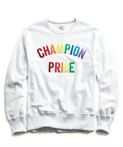 127b4559 Champion Pride Arc Logo Sweatshirt in White