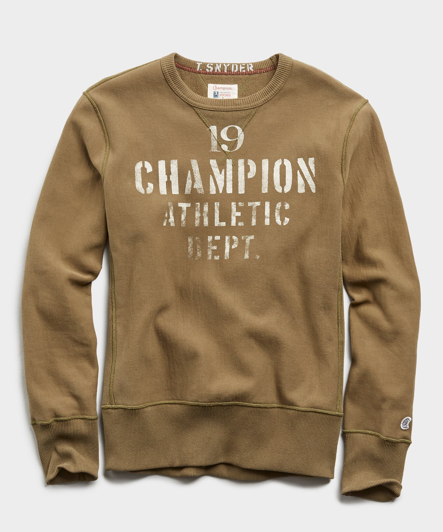 Champion 19 Athletic Dept. Sweatshirt in Fatigue Green