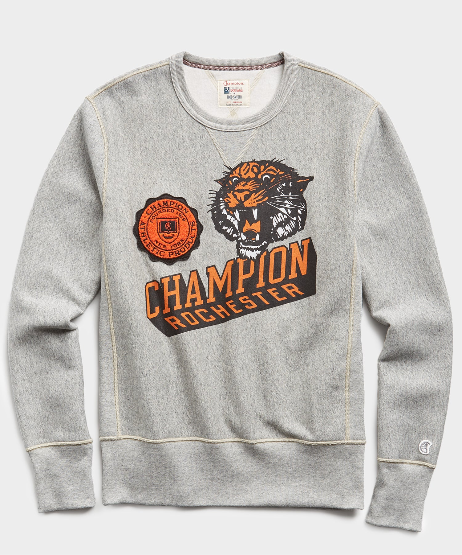 Fleece Rochester Tiger Graphic Sweatshirt