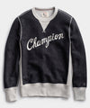 Champion Cursive Sweatshirt in Dark Charcoal