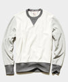 Colorblock Sweatshirt in Alabaster