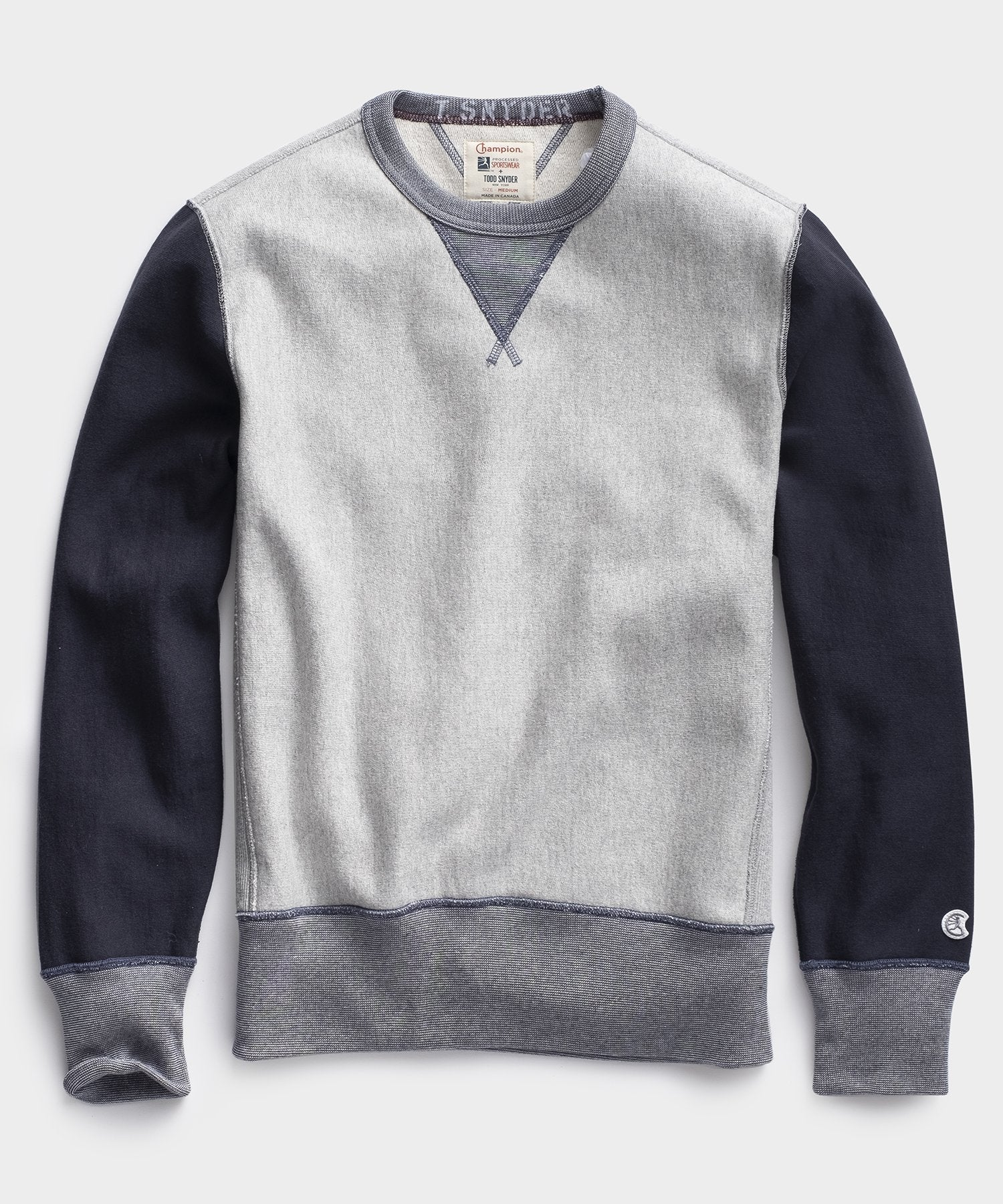 Colorblock Sweatshirt in Grey Mix
