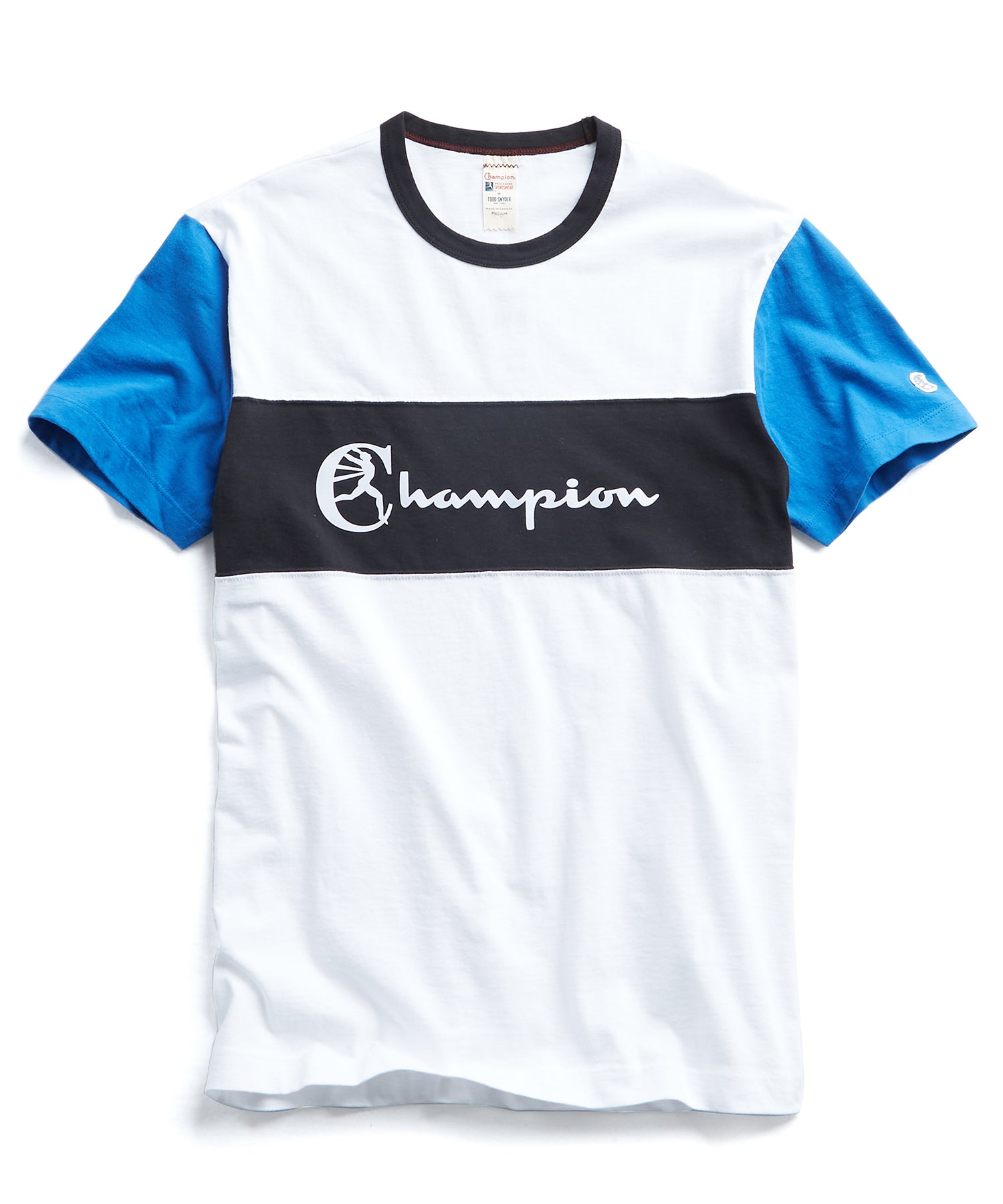 Champion Pieced Graphic Tee in White