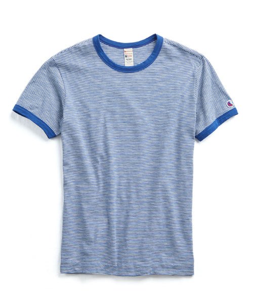 Champion Striped Tee In Admiral Blue