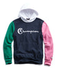 Champion Colorblock Hoodie in Navy Alternate Image