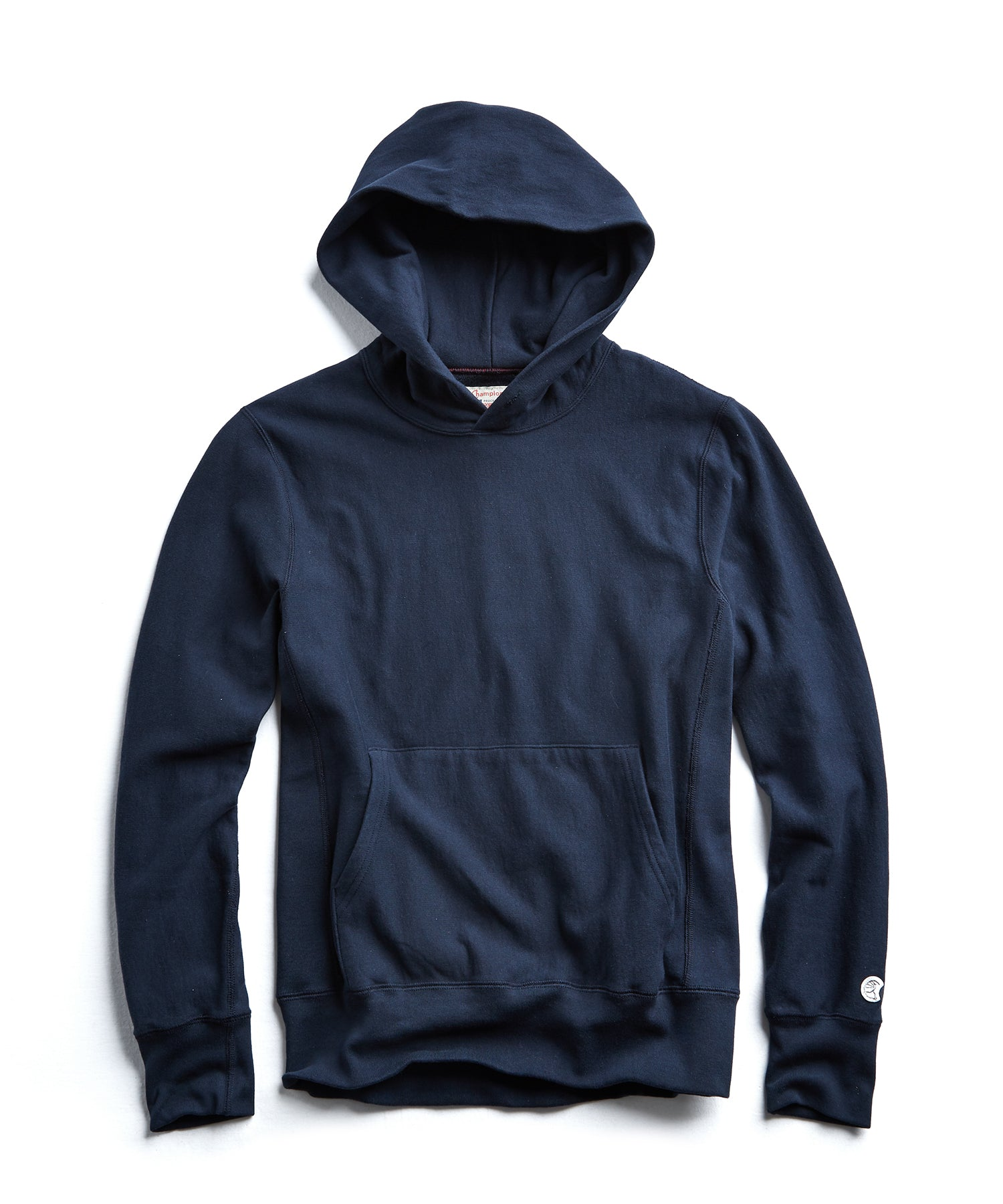 Terry Popover Hoodie Sweatshirt in Original Navy