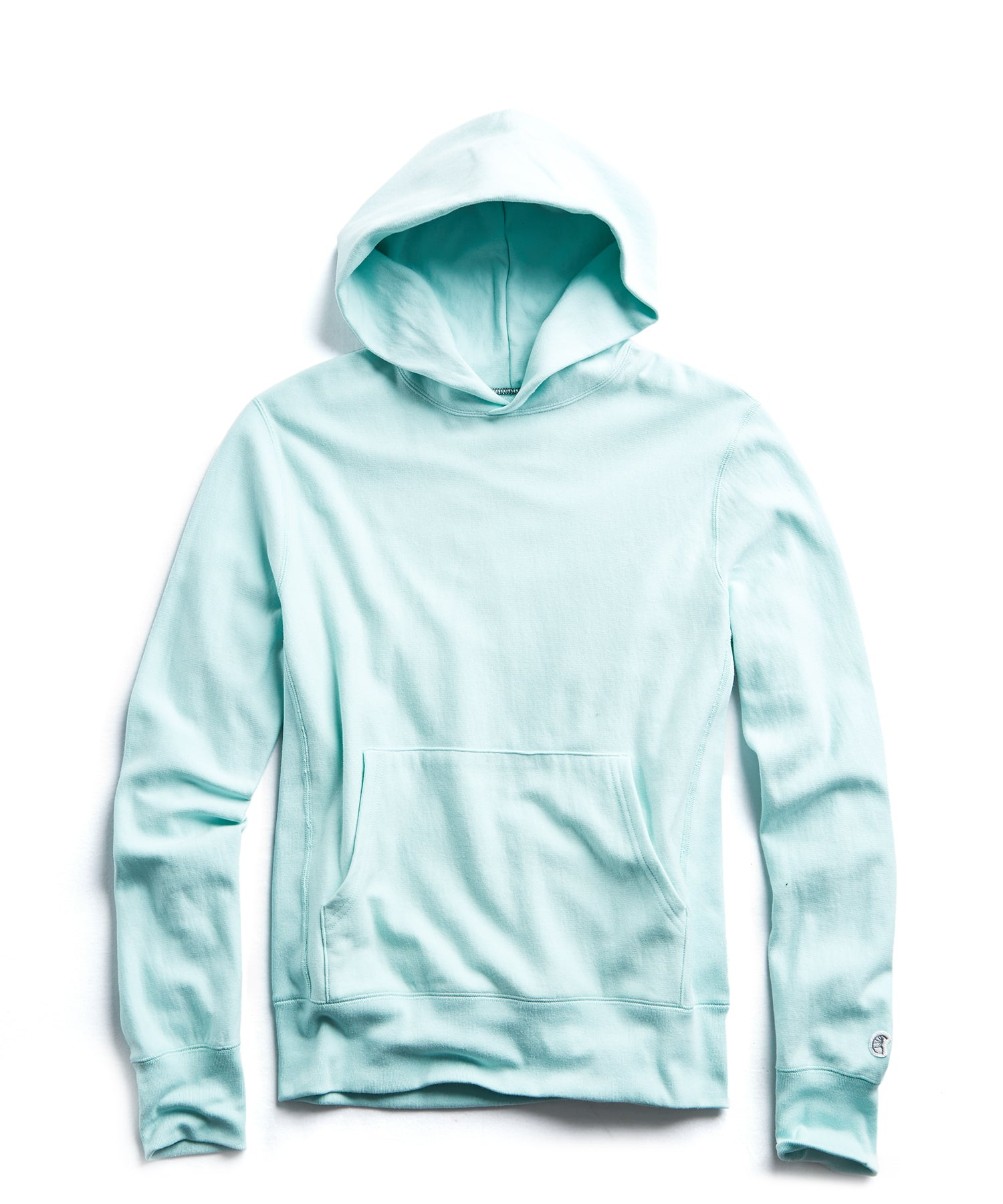 Terry Popover Hoodie in Surf Green