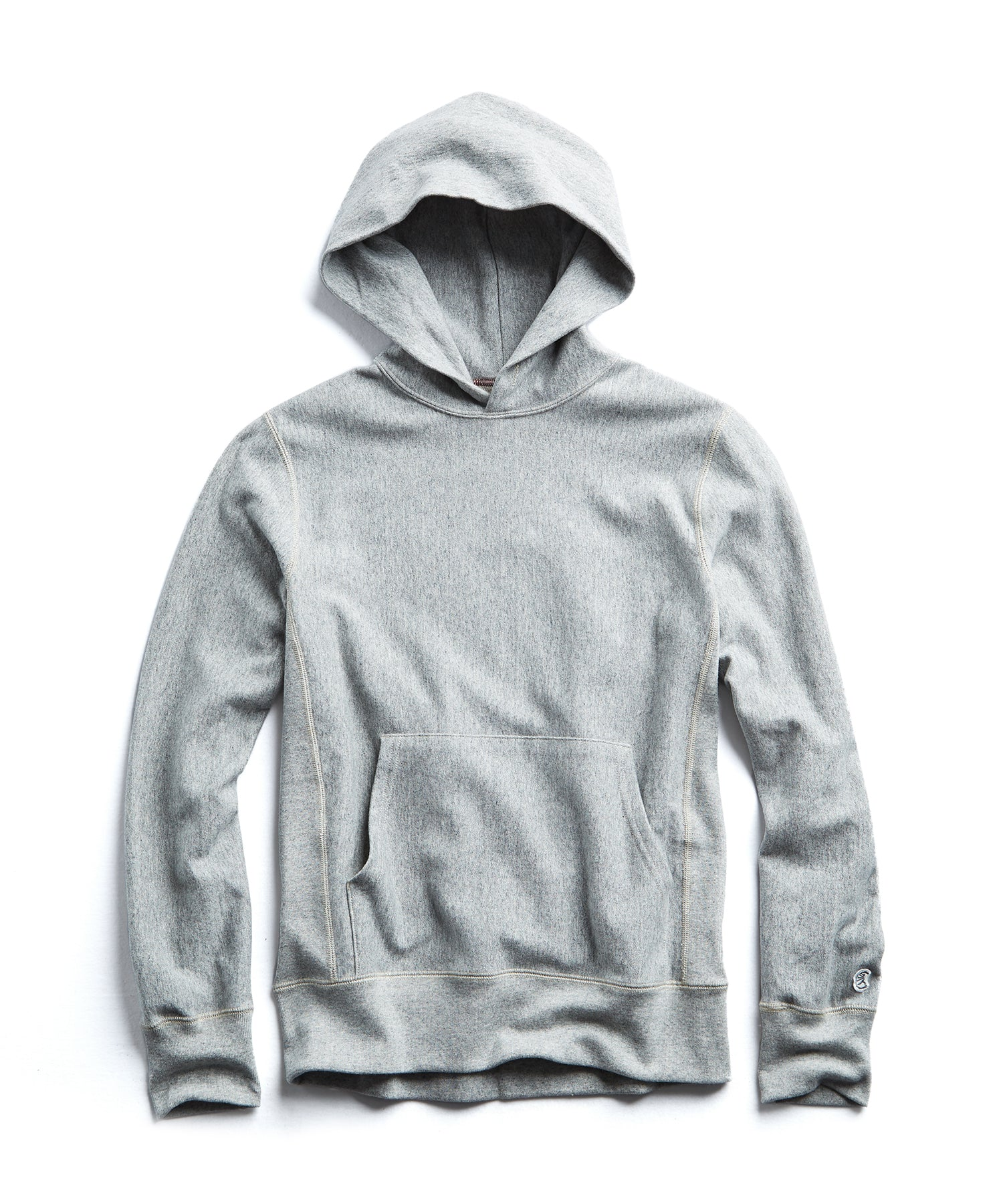 Terry Popover Hoodie Sweatshirt in Light Grey Mix