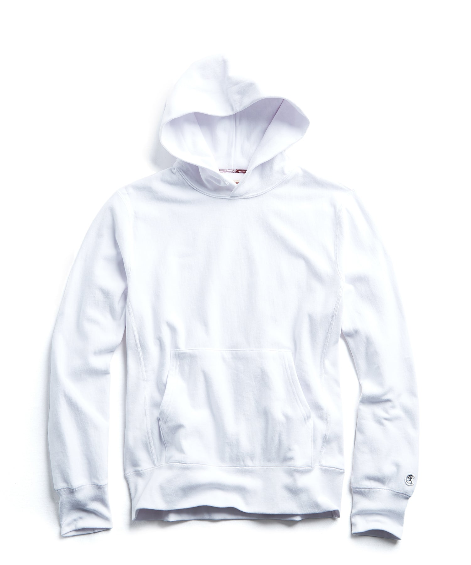 Fleece Popover Hoodie in White