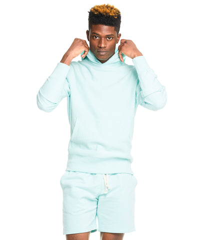 Terry Warm Up Short in Surf Green