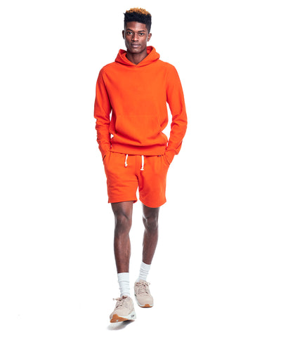 Terry Popover Hoodie Sweatshirt in Sunset Orange
